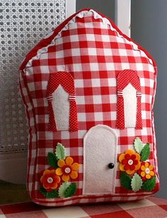 Gingham Cottage Pillow!
