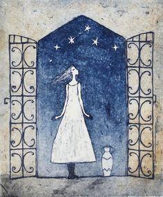 Emmi Vuorinen: Kutsu Tender Is The Night, Poster Drawing, Missing Piece, Twinkle Twinkle Little Star, Water Lilies, Gravure, Silhouette, Wonders Of The World, Graffiti