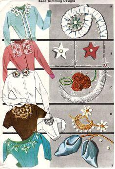 Bead Trimming Designs, c. 1956.