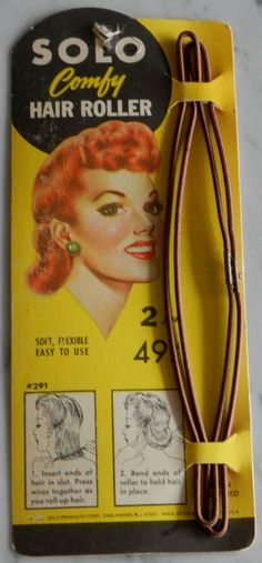Vintage Hair Rollers for 40s Pinup Hairstyles by RumbleSeatCat, $39.95