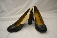 Unionbay Stylish Heels Multicolored Pumps Shoe Size 7.5 Grey White Brown | eBay $6.58