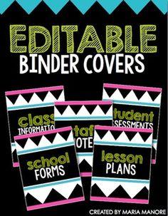 FREE Binder Covers (Editable)