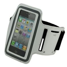 Mobilizers Adjustable Sports Gym Running Armband Case Holder With Valcro Strap For iPhone 4S / 4 / 3GS / 3G & iPod Touch 4th / 3rd / 2nd / 1st Generation - SILVER. Provides excellent all round Protection for your iPhone. Light weight, sporty, stylish unique design. Soft, comfortable, and adjustable strip armband made with soft durable nylon material. It keeps your cell phone secure and protected with super-strong velcro strap. . You can run, ride, lift and more without missing a second of...