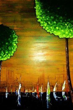 "Saatchi Online Artist Kyle Brock; Painting, ""Sailing Away Again"" #art"