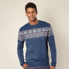 Show off your love of winter with this snowflake patterned jumper #Christmas #jumper