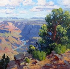Into the Distance by Bill Cramer Oil ~  x