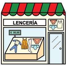 Pictogramas ARASAAC - Lencería. Community Places, Paper Doll House, Give Directions, Vocabulary Activities, Montessori Materials, Teaching Math, Pre School, Spanish, Language