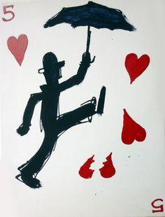 "Saatchi Online Artist mark hanham; Street Art, ""Umbrella Man"" #art"