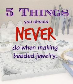 This is just what you need to know when making jewelry!                                                                                                                                                     More