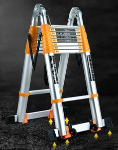 Thickened Aluminum Alloy Household Telescopic Folding Ladder, Best shopping experience, new products added everyday. For best shopping experience visit us, trainedtools.com