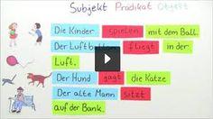Bildergebnis für die satzglieder Boarding Pass, Teaching, School, Google, German Language, Subject And Predicate, Sentence Connectors, German Grammar