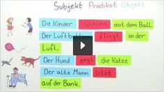 Bildergebnis für die satzglieder Boarding Pass, Teaching, School, Google, German, German Language, Subject And Predicate, Sentence Connectors