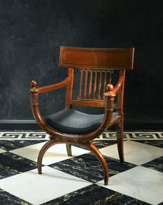 A Directoire fauteuil attributed to Georges Jacob after a design by Charles Percier, Paris, ca 1795