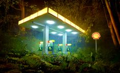 Surreal Photos of a Rainforest Filled with Gas Stations   The Creators Project