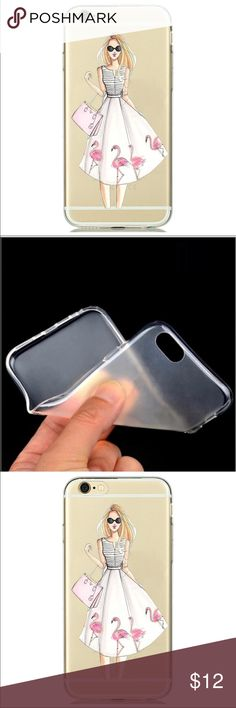 Iphone 6Plus/6sPlus Phone Case Women Dress Fashion This is for Iphone 6 Plus and 6s Plus (Not Iphone 6 or 6s). Soft Silicon Clear Case Cover with Lovely Print. Brand new. High Quality. Easy access to all buttons, controls and ports without having to remove the bumper. Fashion design, easy to put on and easy to take off.  No trade. Browse my closet to see more phone cases. Follow me to see new listings. Accessories Phone Cases