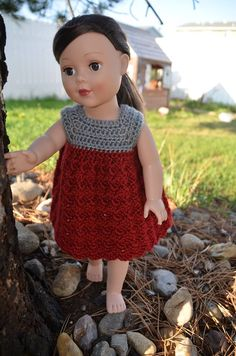 "A quick and fun crochet pattern for 18"" generic or American Girl sized dolls by Crafting Friends Designs"