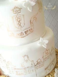 Weddingcake Amsterdam Bakery Cakes, Amsterdam, Wedding Cakes, Birthday Cake, Desserts, Wedding Gown Cakes, Tailgate Desserts, Deserts, Birthday Cakes