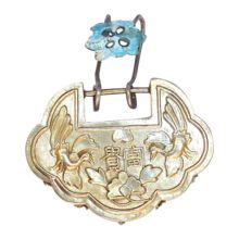 Antique Gilt Chinese Lock