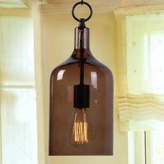 Mini Amber Glass Pendant Lamp | World Market