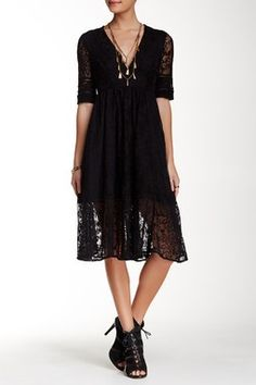 73a3c29e4e9 Free People Laurel Lace Dress ( 80) ❤ liked on Polyvore featuring dresses