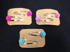 Resin Flower Hair Clip Set - Pick your color on Etsy, $4.00