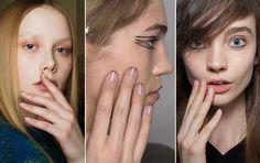 """Você conhece as naked nails? A tendência lá fora propõe que as unhas estejam parcialmente """"nuas"""", mas também decoradas. Olha só!"""