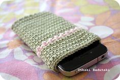En ide til et hæklet iPhone itui (ingen opskrift).