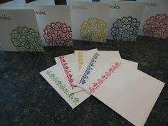 Teeny thank you cards