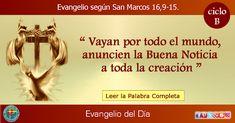 MISIONEROS DE LA PALABRA DIVINA: EVANGELIO - SAN MARCOS    16,9-15