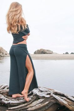 sexy open leg boho beach dance festival zen yoga lounge casual  wrap pants