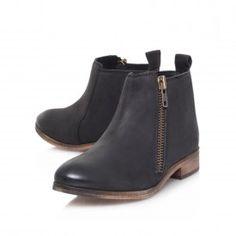 SPITFIRE Black Flat Boots by Miss KG | Kurt Geiger