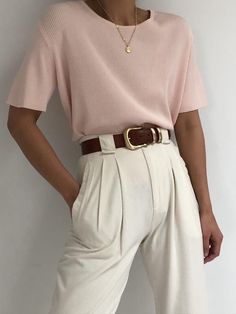 Casual Work Outfits, Mode Outfits, Chic Outfits, Fashion Outfits, Style Fashion, Boutique Vintage En Ligne, Looks Style, My Style, Look Rose