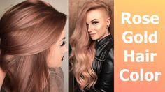 Rose Gold Hair Color using @kenra  Bronze Metallic on Mykie