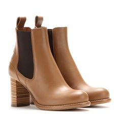 Chloé - Bernie Leather Chelsea Boots - The light brown leather makes them easy to style, while the pull-tab locks in the Chelsea boot-inspired look. - @ www.mytheresa.com