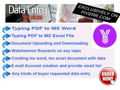 do Any Types Of DATA Entry by estlemon