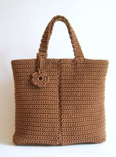 Crochet pattern for basic bag #2. With basic stitches, basic shapes and row by…