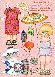 Paper doll Ann Estelle by Mary Engelbriet
