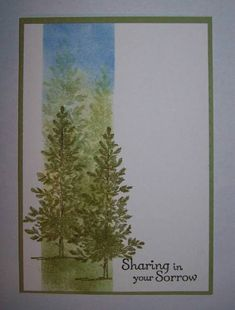 Forest trees: Beautiful masking creation.  Follow the link to joyfulcreationswithkim for a wonderful masking tutorial. This would make a beautiful Christmas card.