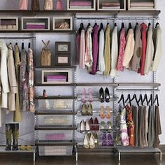 i wish i could organize my closet this good....