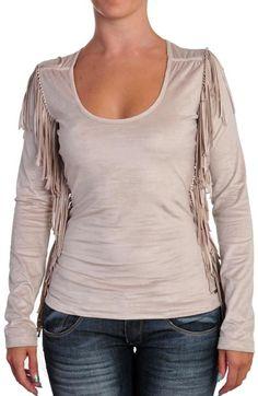 Camiseta MET con flecos