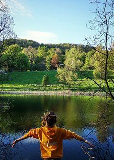 Basking the sun #lake #dreadlocks #nature