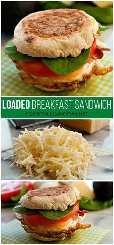 Bacon, Egg & Cheese Breakfast Sandwich Recipe: a quick and easy breakfast recipe that's way better than any McMuffin! This recipe also has a freezer option!