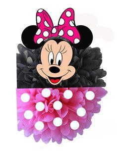 Disney Pink Minnie Mouse Tissue Paper Pom Pom por IsabellasPrints