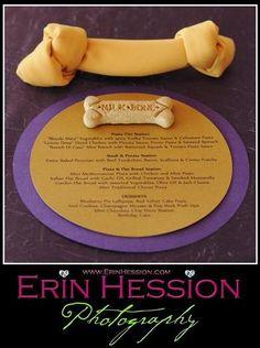 Napkins folded like bones, Dog birthday, inspiration for Mobella Events, www.mobellaevents.com, Florida event planner