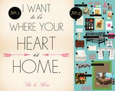 where your heart is home quote, free printable wall art