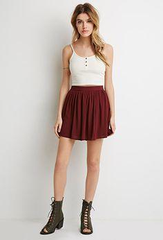 Gauze Skater Skirt | Forever 21 - size m