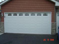 garage door window styles - Google Search Garage Door Windows, Windows And Doors, Window Styles, Large Windows, Panel Doors, Home Interior, Google Search, Outdoor Decor, Design