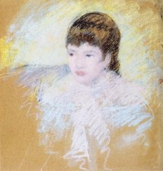 Young Girl with Brown Hair, 1886, Mary Cassatt
