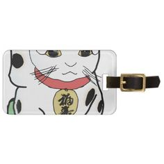Maneki Neko Luggage Tag - cat cats kitten kitty pet love pussy