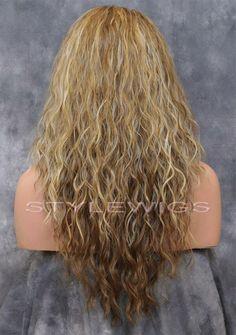 d3d2e30ba0d Light Brown / Blonde Mix Long Curly Wavy Heat Safe Synthetic Hair Wig ABLI  2216#Long#Curly#Wavy